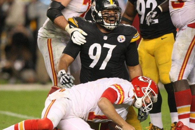 The key was the return of Cam Heyward (97), the captain who missed the last nine games last season with a torn pectoral muscle. Photo courtesy of Pittsburgh Steelers/Twitter