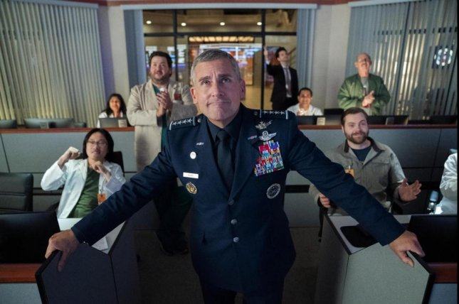 Steve Carell stars in Space Force, a new comedy series premiering May 29 on Netflix. Photo courtesy of Netflix
