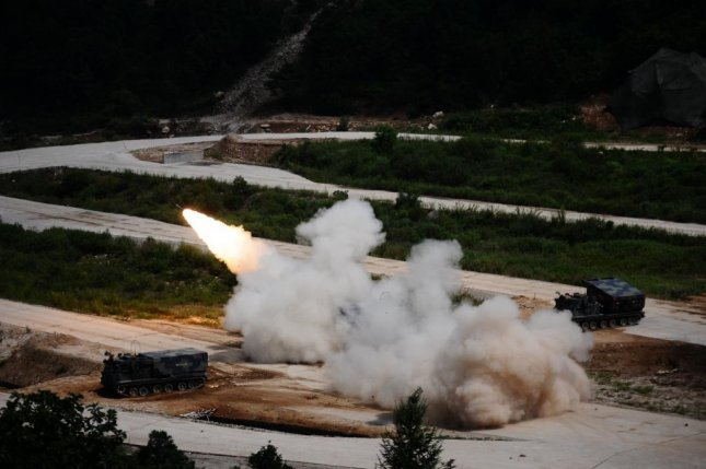 A U.S. Army MLRS live-fire exercise in South Korea. Lockheed Martin announced Thursday it was awarded a contract to produce the missiles the missiles for the U.S. Army and foreign military customers. U.S. Army photo