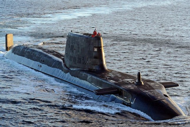 The Royal Navy has awarded a contract to BAE Systems for work on the Astute-class submarine program, which includes the HMS Ambush, pictured here. Photo courtesy Le Deluge/Wikimedia