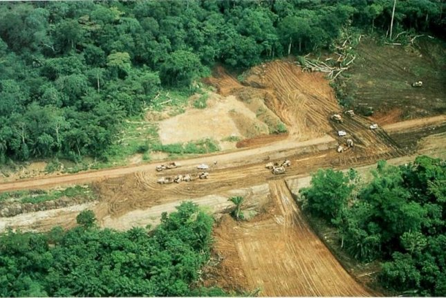 New research suggests the construction of new road leads to deforestation and other negative ecological consequences. Photo by The Conservation Atlas of Tropical Forests: Africa/Flickr