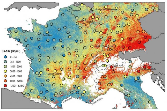 For the new map, scientists were able to differentiate between radionuclides released by military tests and radionuclides released by the Chernobyl accident. Photo by Katrin Meusburger, et al. / Scientific Reports