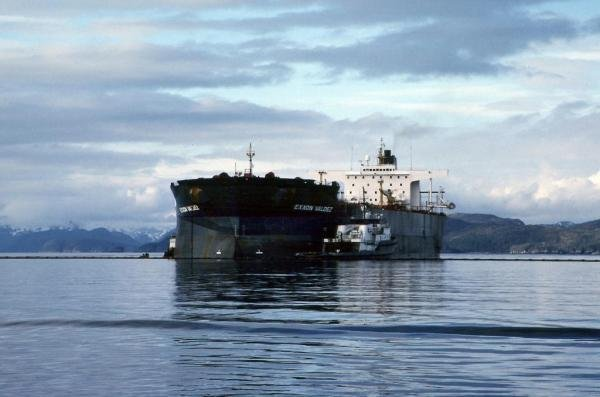 On March 24, 1989, the tanker Exxon Valdez ran aground on Bligh Reef in Prince William Sound, Alaska. Within six hours of the grounding, the Exxon Valdez spilled approximately 10.9 million gallons (259,500 barrels) of its 53 million gallon cargo of Prudhoe Bay crude oil. The oil would eventually impact more than 1,100 miles of non-continuous coastline in Alaska, making the Exxon Valdez the largest oil spill in U.S. waters at the time. File Photo courtesy NOAA