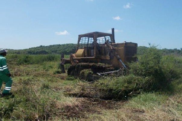 Prep work begins at a site that will eventually be the target of a Cuban drilling company. Photo courtesy Melbana Energy