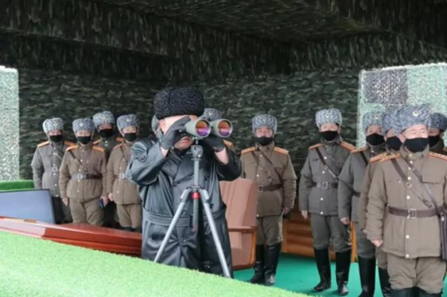 North Korea has been engaging in live-fire military exercises since Saturday. Screenshot via KCTV