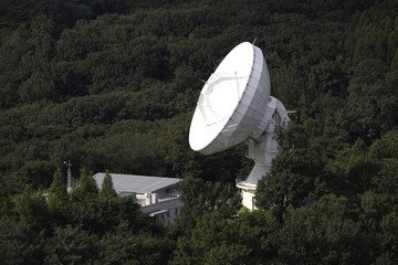 Researchers linked this radio telescope in Seoul, South Korea, with another Korean scope and three dishes in Australia to create a system that functions as a 5,000-mile-wide telescope. Credit: Korean Astronomy and Space Science Institute