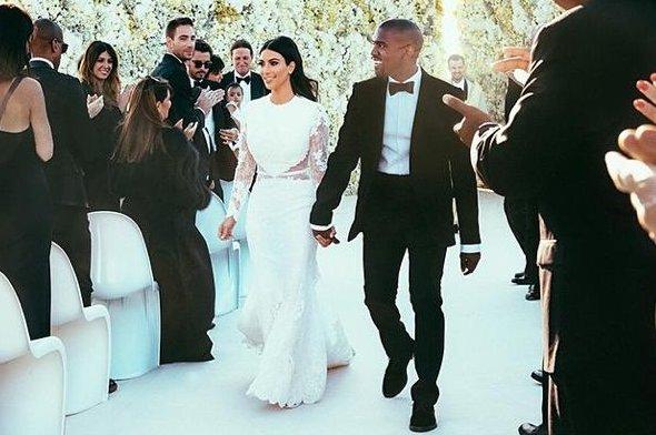 Kim Kardashian and Kanye West (Instagram)