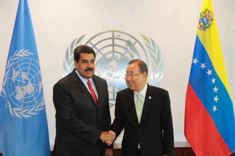 President of Venezuela Nicolas Maduro met with United Nations Secretary General Ban Ki-moon on Tuesday to discuss a recent territorial dispute between Venezuela and Guyana. Photo courtesy of Nicolás Maduro/Twitter