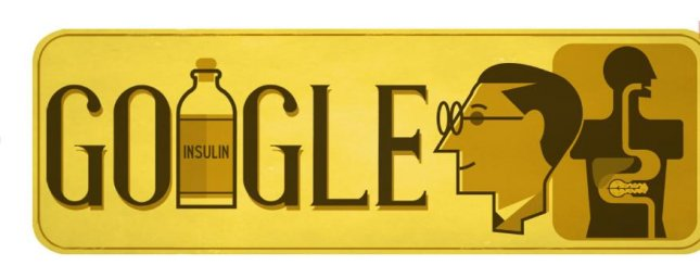 Google is celebrating insulin scientist Sir Frederick Banting's birthday with a new doodle in honor of World Diabetes Day. Photo courtesy of Google.