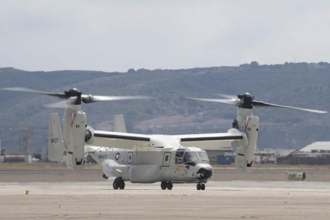 The first CMV-22B Osprey assigned to Fleet Logistics Multi-Mission Squadron, or VRM, 30 lands at Naval Air Station North Island. VRM 30 was established in late 2018 to begin the Navy's transition from the C-2A Greyhound to the Osprey. Photo by MCS 2nd Class Chelsea D. Meiller/U.S. Navy