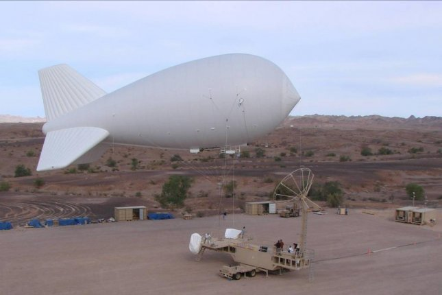 The Persistent Threat Detection System surveillance aerostat made by Lockheed Martin. The U.S. military used them in Iraq and Afghanistan. Photo courtesy Lockheed Martin