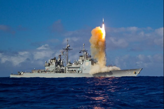 The U.S. Missile Defense Agency conducted its second intercept test of the SM-3 Block II missile this week, but unlike the previous test the missile did not hit it's target. Pictured, a previous SM-3 variant missile launch by the Aegis cruiser USS Lake Erie. Photo courtesy of the Defense Imagery Management Operations Center