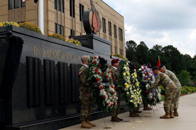 Staff Sgt. Logan Melgar's name was unveiled on the U.S. Army Special Operations Command Memorial Wall at a Fallen Warriors Memorial Ceremony on May 24. U.S. Army Photo by Staff Sgt. Dillon Heyliger.