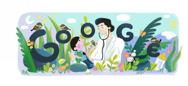 Google is paying homage to Fe del Mundo who financed the first pediatric hospital in the Philippines. Image courtesy of Google