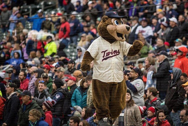 While the Twins' mascot won't be happy, the team put pitcher Phil Hughes on the DL with a biceps injury. Photo courtesy Minnesota Twins/Twitter