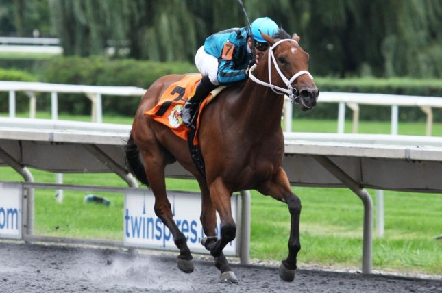 Big Drink of Water rallies down the stretch to win his second straight stakes, Saturday's Arlington-Washington Futurity for 2-year-olds at Arlington Park. Photo courtesy of Keely Sorrows/Coady Photography