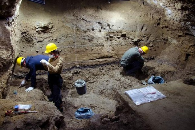 Excavations at Bacho Kiro Cave have unearthed new artifacts from the Middle Palaeolithic Neanderthal occupations, some of which have shown early humans moving through subarctic climates earlier than thought. Photo by Tsenka Tsanova/MPI-EVA
