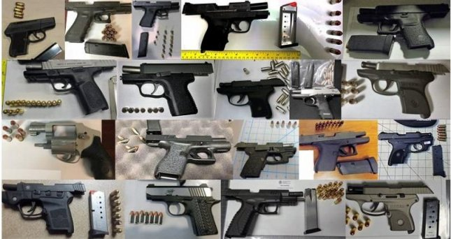 The Transportation Security Administration set a new daily record May 3, after recovering 26 firearms from 15 airports. Photo courtesy TSA