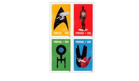 The 2016 'Star Trek' Forever stamps released by the U.S. Postal Service during the last week of 2015. Photo by USPS
