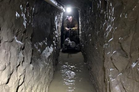 The tunnel is the longest authorities have ever found in the San Diego area, measuring about 4,300 feet. Photo courtesy U.S. Customs and Border Protection/UPI