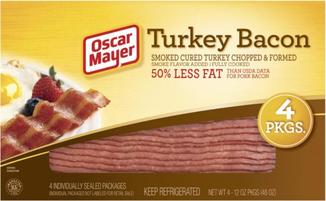 More than two million pounds of Oscar Mayer turkey bacon has been recalled after the company received several reports of related illnesses. Image from U.S. Department of Agriculture's Food Safety and Inspection Service