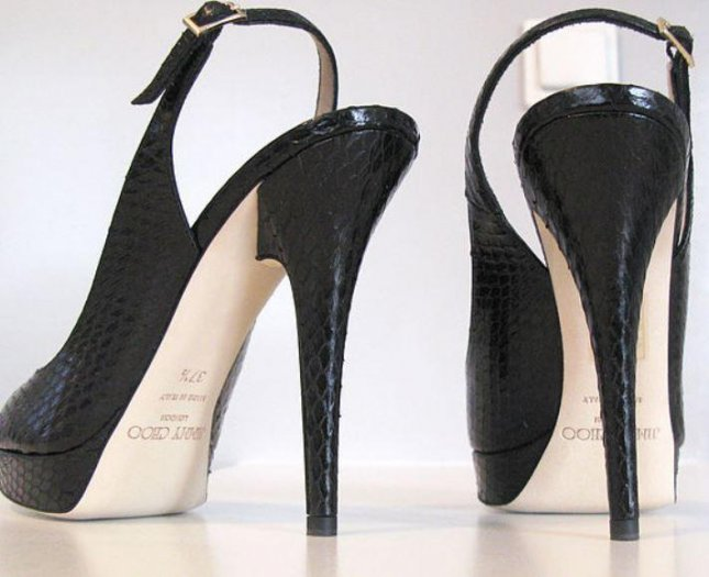 Luxury shoe maker Jimmy Choo Ltd. announced the company is for sale, prompting a quick rise in its stock price Monday on London markets. Photo by Arroser/Wikipedia