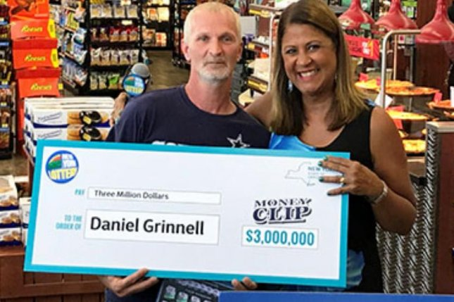 A New York state man said a broken ATM at his usual store led to his winning a $3 million lottery jackpot. Photo courtesy of the New York Lottery