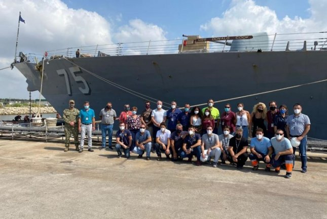 The Forward Deployed Regional Maintenance Center detachment in Rota, Spain, completed the USS Donald Cook's Surface Incremental Availability maintenance five days ahead of schedule, the Naval Sea Systems Command announced. Photo courtesy of U.S. Navy