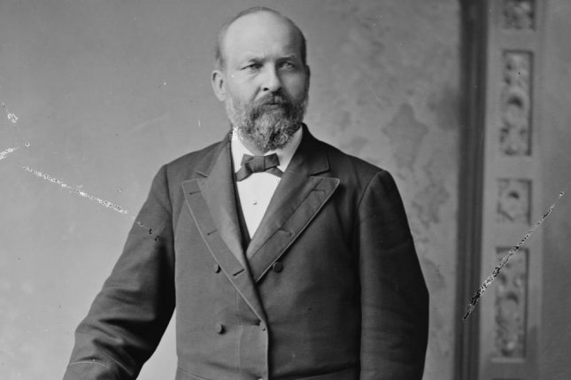 Portrait of U.S. President James A. Garfield taken 1881. Photo courtesy Library of Congress