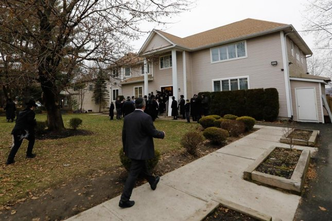 This is the home of Hasidic rabbi Chaim Rottenberg in Monsey, N.Y., where five people were wounded in a machete attack last weekend during a Hanukkah ceremony. Photo by Peter Foley/EPA-EFE