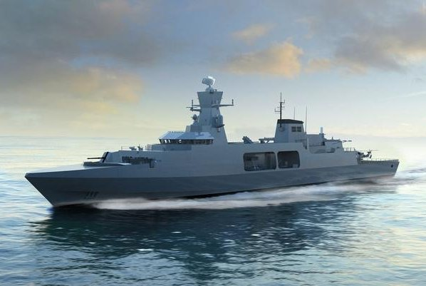 An artist's conception of the Type 31e frigate being developed for the U.K. Royal Navy. Photo courtesy of BAE