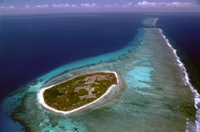 This is Surprise island, a low-lying island located in the northwest of New Caledonia. Credit: Jean Michel Chapuis