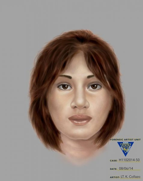 New Jersey State Police released a new artist sketch of a woman found dead in 1991. She has either blond or brown hair. (New Jersey State Police)