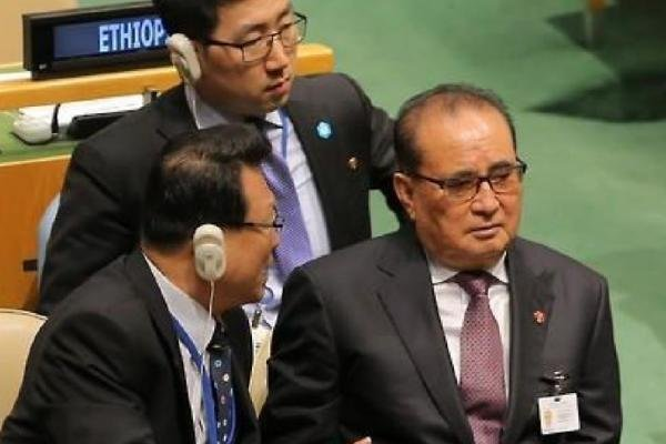North Korean Foreign Minister Ri Su Yong told the U.N. General Assembly on Thursday the escalation of tensions in August between North and South exposed the fragility of truce between the two sides, and that the United States can no longer delay a peace agreement with Pyongyang. File Photo by Yonhap