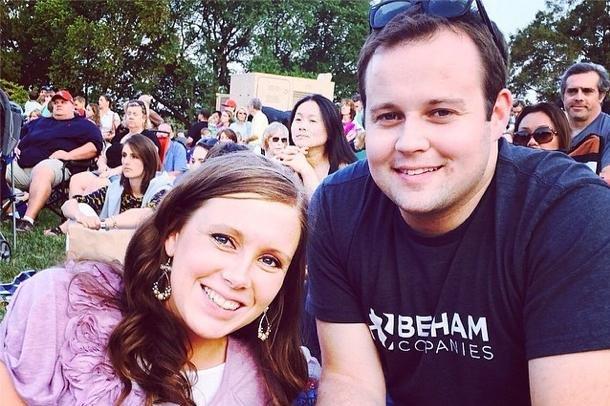 Josh Duggar (R) and wife Anna Duggar. The disgraced reality star left rehab this week. Photo by Josh Duggar/Instagram