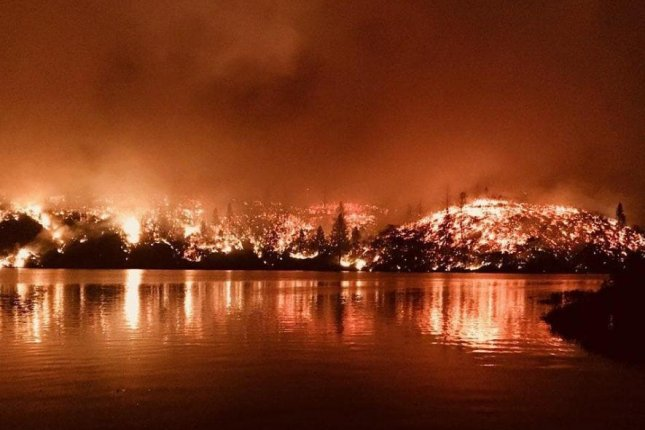 The Carr Fire in Shasta County, Calif., has torched more than 100,000 acres so far and killed six people, authorities said. Photo courtesy Cal Fire Shasta County