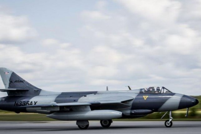 A MK-58 Hawker Hunter prepares to take off at Marine Corps Air Station Beaufort, South Carolina, June 27, 2017. A civilian contractor with the Hawaii National Guard was rescued after ejecting from the small jet Wednesday in Oahu, Hawaii. Courtesy U.S. Marines