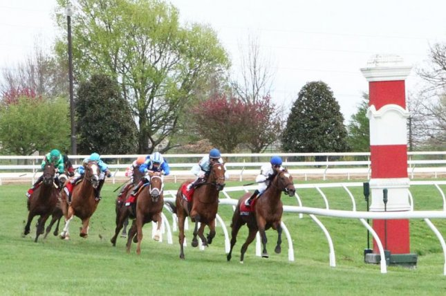 Delta Prince turns for home on the lead and heading for victory in Friday's Grade I Maker's 46 Mile at Keeneland. Photo courtesy of Keeneland