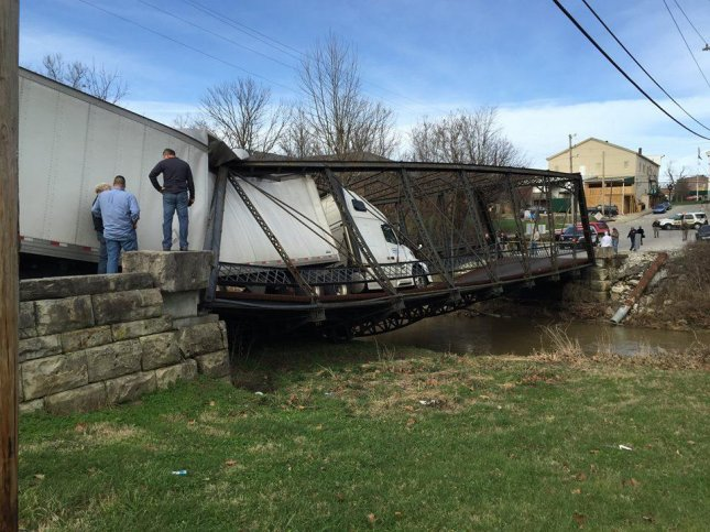 Mary Lambright, 23, admitted to not knowing the weight of her vehicle after attempting to drive a 30-ton truck across a bridge with a 6 ton weight limit, causing it to collapse.  Photo by Orange County Indiana Law Enforcement/Facebook