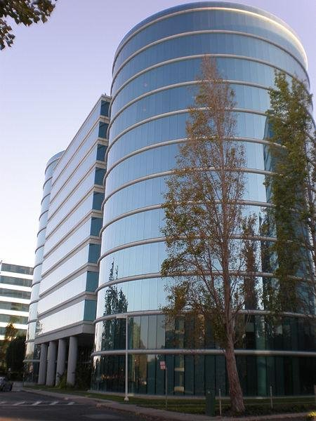 Oracle Corp. headquarters in Redwood Shores, Calif., where it was announced Monday that Oracle will acquire New Hampshire-based Dyn, Inc., a web service provider. Photo by Brokensphere/Wikimedia