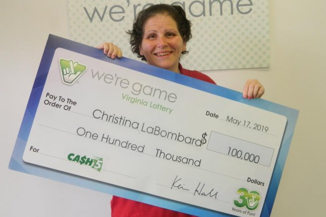 A Virginia woman won a $100,000 lottery jackpot using the numbers from her favorite NASCAR drivers' cars. Photo courtesy of the Virginia Lottery