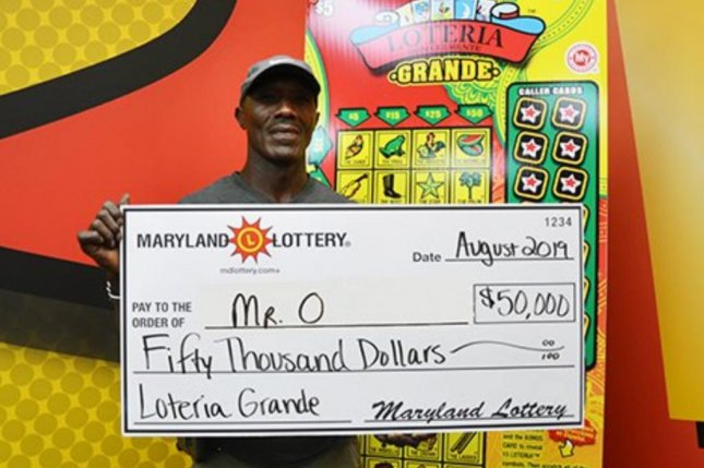 A Maryland man's $50,000 lottery jackpot is his fifth lottery prize of $10,000 or more. Photo courtesy of the Maryland Lottery
