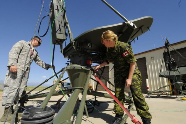 Space Agressors demonstrate SATCOM electronic attack capabilities. U.S. Air Force photo by 2nd Lt. Darren Domingo