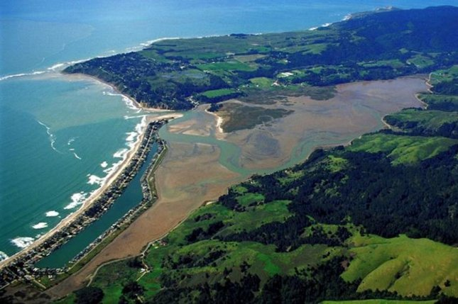 Researchers surveyed 14 Pacific coast wetlands, including the Bolinas Lagoon in Marin County, California. Photo by U.S. Army Corps of Engineers/Wikimedia Commons