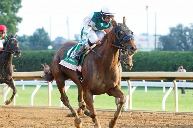 Blue Prize wins Sunday's Grade I Juddmonte Spinster at Keeneland, earning a berth in the Breeders' Cup Distaff. Photo courtesy of Keeneland