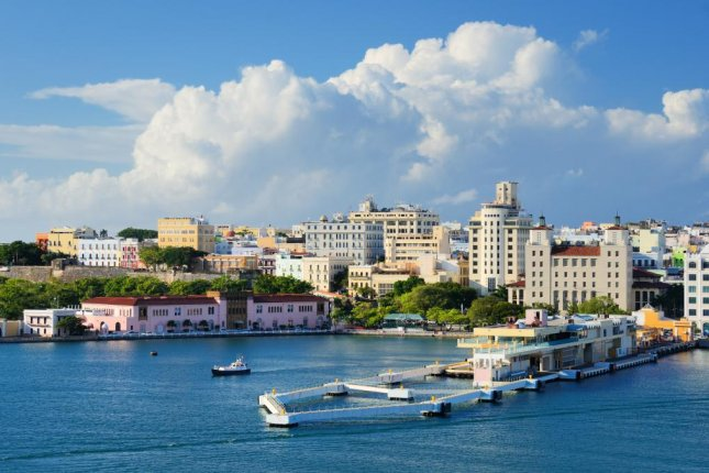 The capital of Puerto Rico, San Juan, has a population of about 390,000 people. The city will be affected by water rationing beginning Wednesday. File Photo by Sean Pavone/Shutterstock