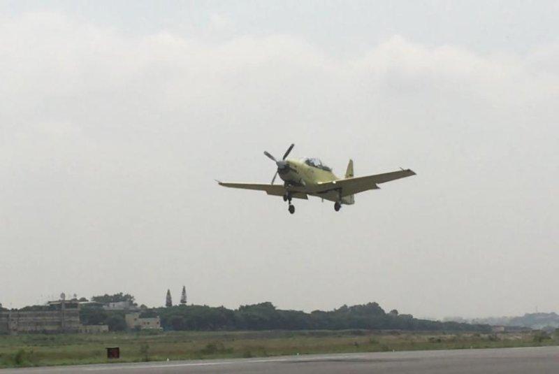 Hindustan Aeronautics Limited's HTT-40 trainer aircraft made its inaugural flight in India Friday. Screenshot via HAL/Vimeo