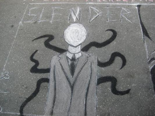 A graffiti drawing of the fictional character Slender man by an anonymous artist. Anissa Weier, 15, was found not criminally responsible for her part in the stabbing of a sixth-grade classmate as part of a plot with her friend Morgan Geyser to become proxies of Slender Man in 2014.