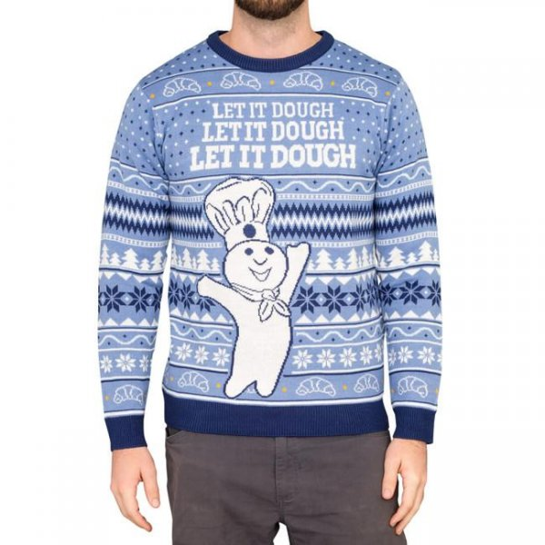 Pillsbury is getting into the Christmas spirit by offering two designs of ugly Christmas sweaters online. Photo courtesy of General Mills
