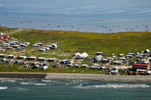 The 650 residents of Shishmaref, Alaska, whether to move the entire village as rising sea levels gradually eliminate land there. File Photo by Bering Land Bridge National Preserve/Wikipedia